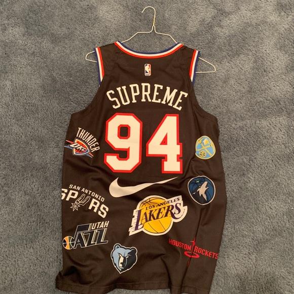 best service 7dae3 92238 Supreme NBA jersey